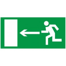 Знак Е04 - Направление к эвакуационному выходу налево
