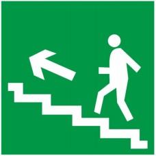Знак Е16 - Направление к эвакуационному выходу по лестнице вверх налево
